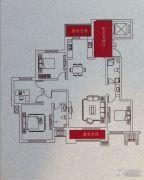华友昆玉府4室2厅2卫166平方米户型图