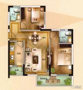海泉湾2室2厅2卫89平方米户型图