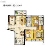 美的・花湾城3室2厅2卫120平方米户型图
