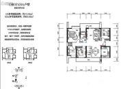 绿海湾花园4室2厅1卫72平方米户型图