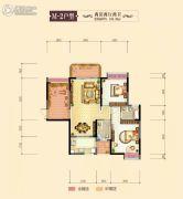 名家翡翠花园2室2厅2卫106平方米户型图