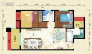 盛世天彭2室2厅1卫79平方米户型图