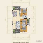 水岸欧韵3室2厅1卫85平方米户型图