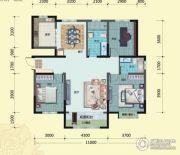 荷塘月色3室2厅2卫153平方米户型图