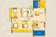 枫�Z美地园3室2厅1卫98平方米户型图