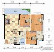 天元海天新城3室2厅2卫113平方米户型图