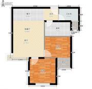 宏�N翡翠城2室1厅1卫80平方米户型图