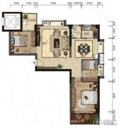 悦泰春天3室2厅2卫108平方米户型图