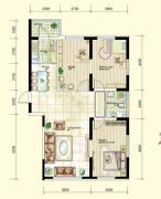 红晟陶然庭苑3室2厅1卫117--120平方米户型图