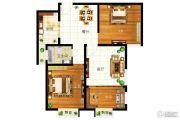 圣地亚哥3室2厅1卫84平方米户型图