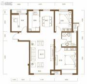 保利・领秀山3室2厅1卫116平方米户型图