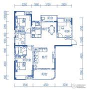 半山�庭3室2厅2卫123平方米户型图