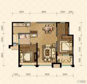 国信・国际公馆2室2厅1卫97--99平方米户型图