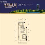 富盈华阳湖・月1室1厅1卫0平方米户型图