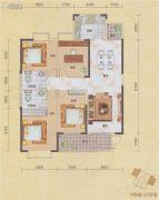 碧海紫金城4室2厅2卫137平方米户型图