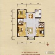 蓝远名城3室2厅2卫119平方米户型图
