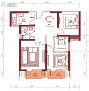 汉阳人信汇・ME TOO公馆2室2厅1卫88--89平方米户型图