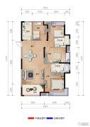 融创瑷颐湾4室2厅2卫129平方米户型图