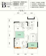 仁怀国酒城2室2厅2卫105平方米户型图