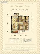 沈阳雅居乐花园3室2厅2卫121平方米户型图