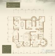 九锦台3室2厅2卫214平方米户型图