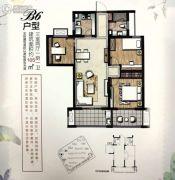 正大万物城3室2厅1卫105平方米户型图