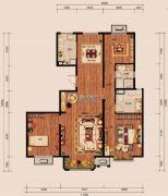 中冶世家3室2厅2卫131平方米户型图