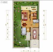 绿地城2室2厅1卫200平方米户型图