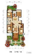 大运河孔雀城学府公园4室2厅2卫156平方米户型图