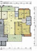 榕东新城4室2厅3卫255平方米户型图