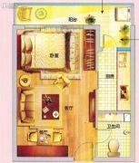 紫晶国际广场1室1厅1卫47平方米户型图