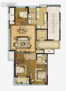 江湾城3室2厅2卫145平方米户型图