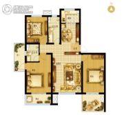 枣强・新天地3室2厅2卫138平方米户型图