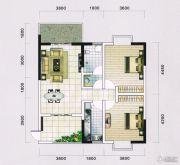 蓝宝湾2室2厅1卫99平方米户型图