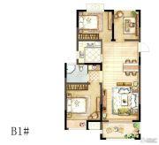 骏景华庭3室2厅1卫92平方米户型图