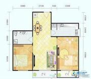 滨海新城2室1厅1卫97平方米户型图