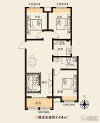 华天公馆3室2厅1卫114平方米户型图