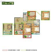 香堤春晓3室2厅1卫92平方米户型图