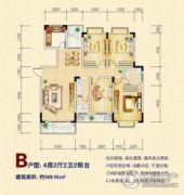 浯溪金苑4室2厅2卫149平方米户型图