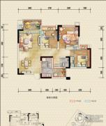 恒邦・时代青江二期3室2厅1卫71平方米户型图