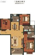 义乌城3室2厅2卫136平方米户型图