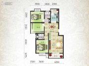 北城明珠二期2室2厅1卫107平方米户型图