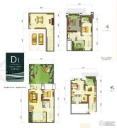 龙湖紫云台4室2厅3卫204平方米户型图
