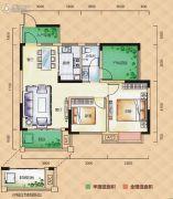 梅溪峰汇3室2厅1卫85--88平方米户型图