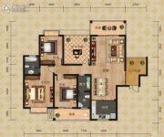 富恒・金鹏嘉苑二期3室2厅2卫142平方米户型图