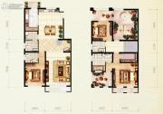 红木林3室2厅4卫210平方米户型图
