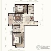 金麦加汇君城2室2厅1卫92平方米户型图