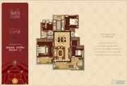 万科・红郡西岸4室2厅1卫115平方米户型图