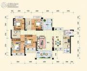 中通水岸4室2厅2卫136平方米户型图