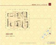 华夏阳光4室2厅3卫134平方米户型图